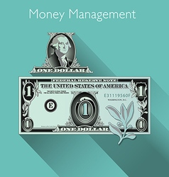 Dollar with Shadow vector image vector image