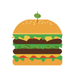 hamburger with olive on top icon image vector image