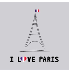 I love Paris card4 vector image vector image