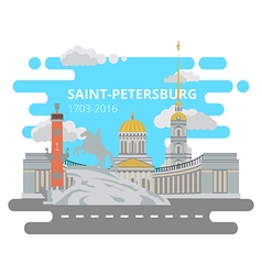 Saint-Petersburg flat cityscape set vector image