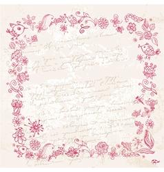 frame ink2 vector image