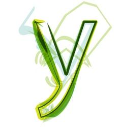Green letter Y vector image vector image