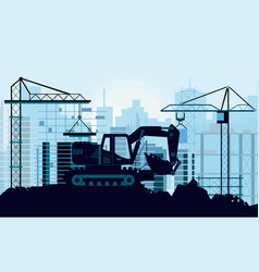 ground works on vector image