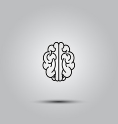 human brain on white vector image vector image