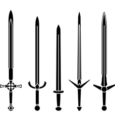 stencils of medieval swords vector image