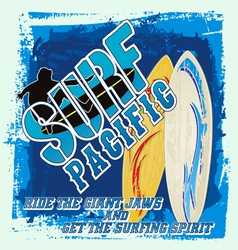 surfing board vector image vector image