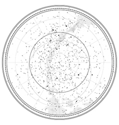 Astronomical Celestial Map vector image vector image