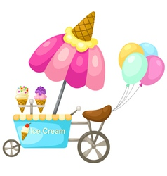 cart stall and a ice cream vector image vector image