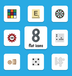 flat icon play set of backgammon guess gomoku vector image