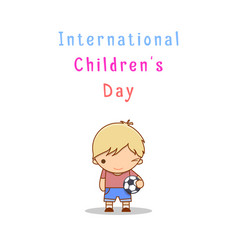 international children s day vector image vector image