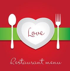 love menu vector image