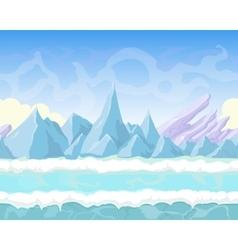 Seamless cartoon fantasy landscape with vector image vector image
