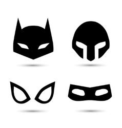 Super hero icons set vector image vector image