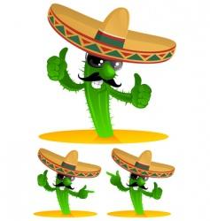 three cactus vector image vector image