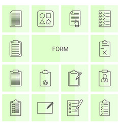 14 form icons vector
