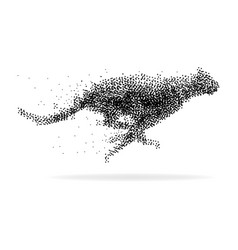 A cheetah made from dots vector