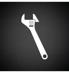 Adjustable wrench icon vector