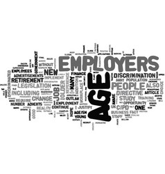 Ageism in the workforce text word cloud concept vector