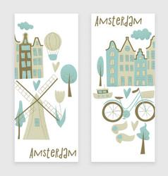 amsterdam design vector image