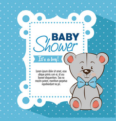 baby shower boy invitation card vector image