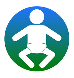 baby sign white icon in vector image