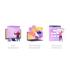 backend development concept metaphors vector image