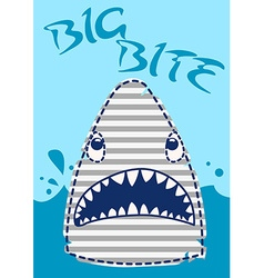 Big Bite Shark vector