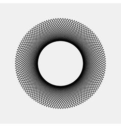 Black Abstract Fractal Shape vector