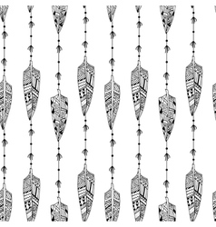 Black and white seamless texture vector image
