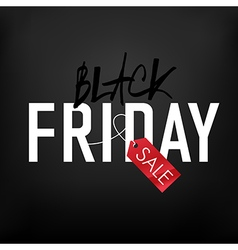 black friday on mesh black background vector image