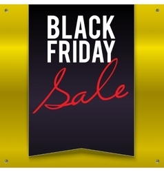 Black Friday sale large banner pennant flag on a vector
