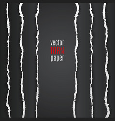 Black torn paper vector image