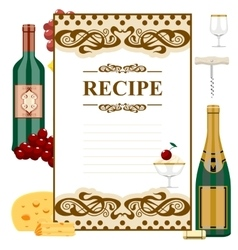 Blank for wine list vector image vector image