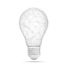 Blockchain polygon idea light bulb isolated on vector