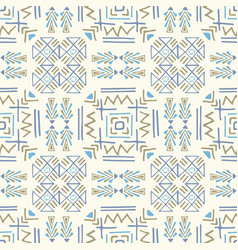 boho ethnic ornament tribal art print seamless vector image