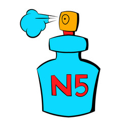 Bottle of chanel no5 perfume icon cartoon vector
