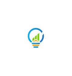 business idea light bulb logo vector image