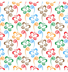 butterfly hand drawn colorful pattern background vector image