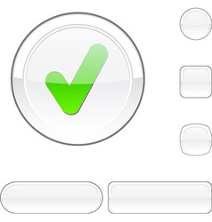 Check white button vector