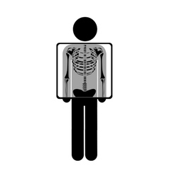 chest x-ray icon image vector image