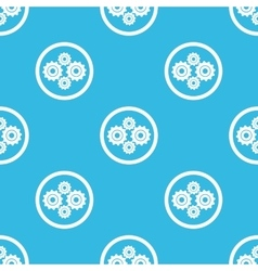 Cogs sign blue pattern vector