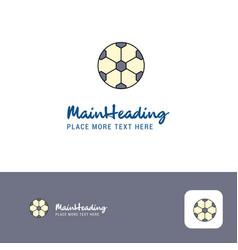 creative football logo design flat color logo vector image