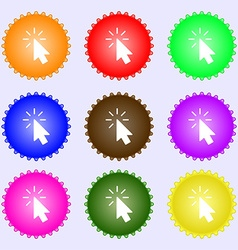 Cursor icon sign Big set of colorful diverse vector image