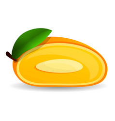 cutted mango icon cartoon style vector image