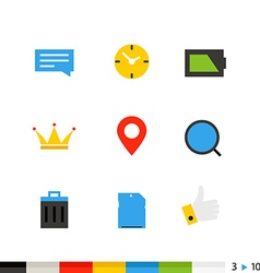 Different flat design icons vector