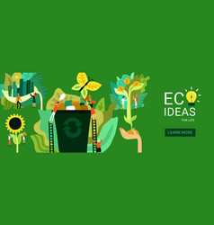 Ecological restoration header vector