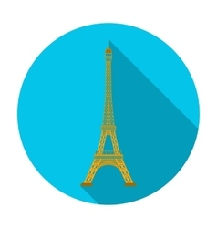 Eiffel tower icon in flat style isolated on white vector