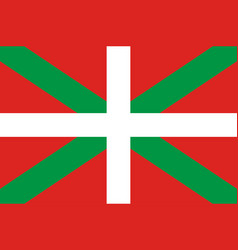 Flag of basque country in spain vector