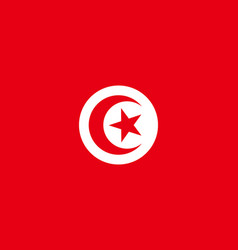 flag of tunisia in official rate and colors vector image