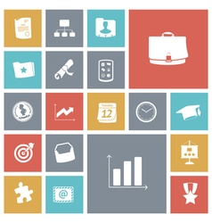 Flat design icons for business and finance vector image